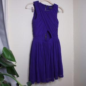 EUC Topshop Skater Cutout Mini Dress Size 2P